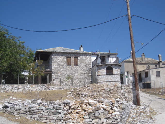 Deserted houses, Kastro, Thassos