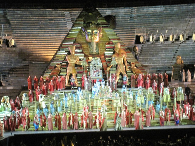 Aida at the Verona arena