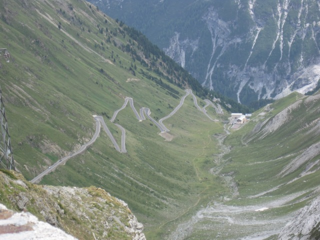 The Stelvio Pass going down