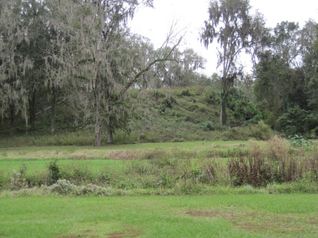 A temple mound from 1100-1200AD at Lake Jackson Mounds  Archaeological State Park, near Tallahassee