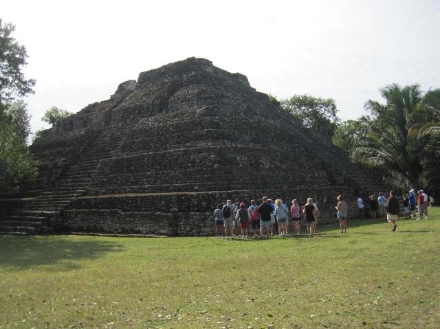 Mayan pyramid, Chacchoben, Mexico