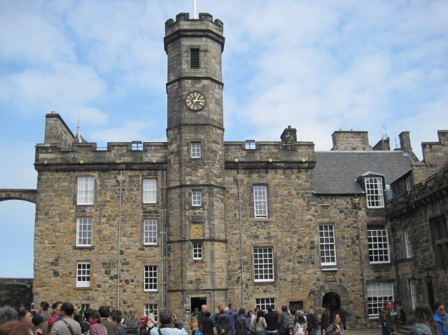 It was a bit busy at Edinburgh Castle