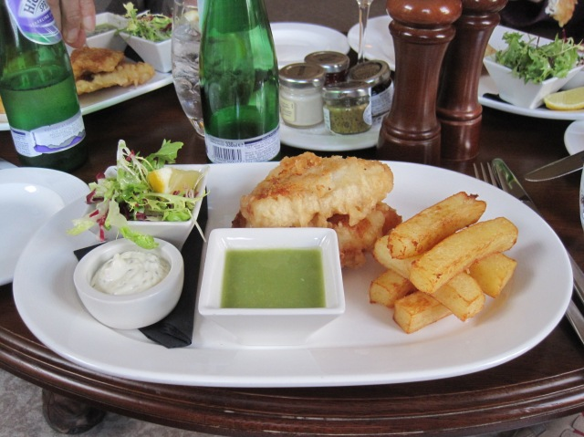 Fish and chips at Andy Murray's Cromlix House