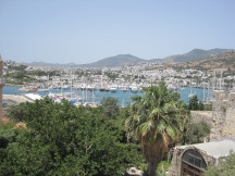 Looking out from Bodrum Castle