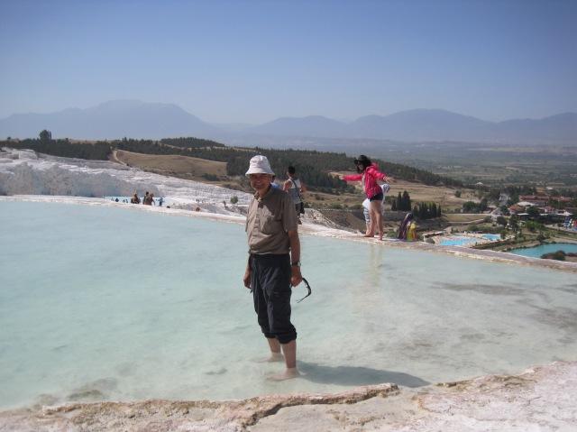 The paddler at Pamukkale
