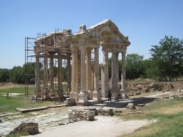 Reconstructed temple at Aphrodisias