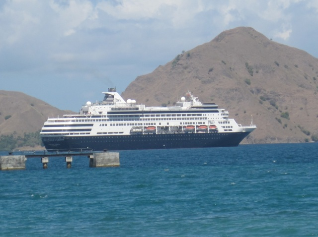 The Pacific Eden anchored at Komodo Island