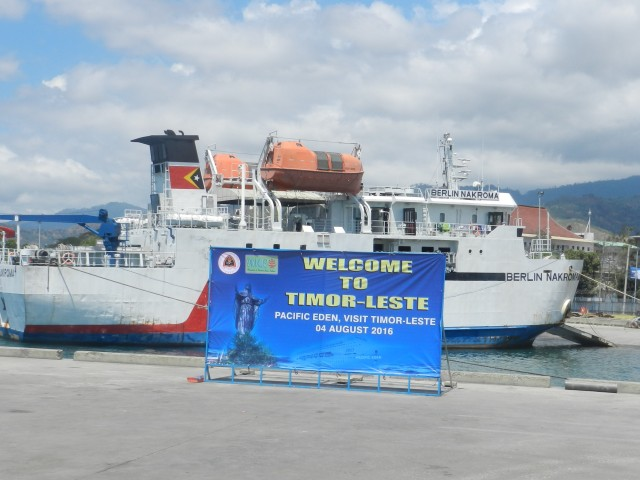 Not many cruise ships in Dili