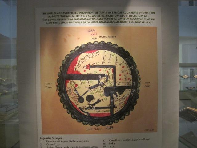 World Map, Islamic Art Museum, Kuala Lumpur