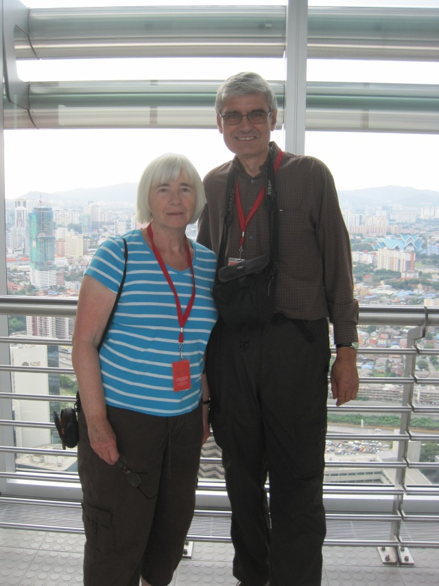 On the 41st floor bridge, Petronas Towers