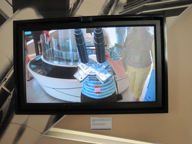 Holding up the Petronas Towers via their webcam