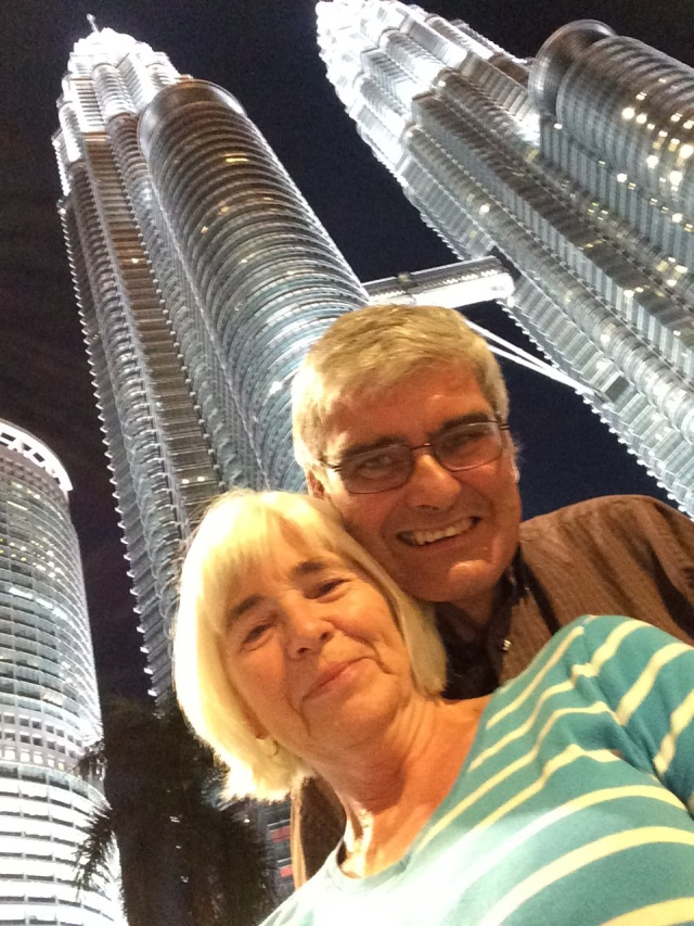 Finally a successful selfie, at the Petronas Towers