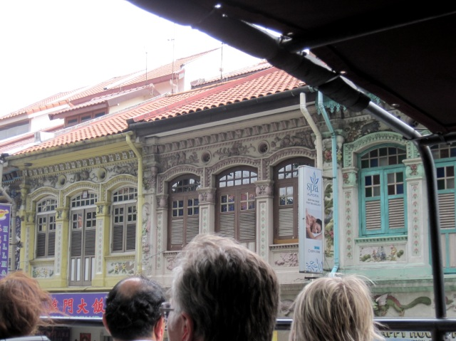 Chinatown, Singapore, from the bus
