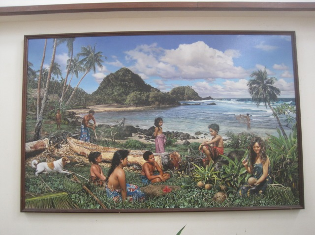 Painting, the Holy Family, inside the Catholic Cathedral, American Samoa