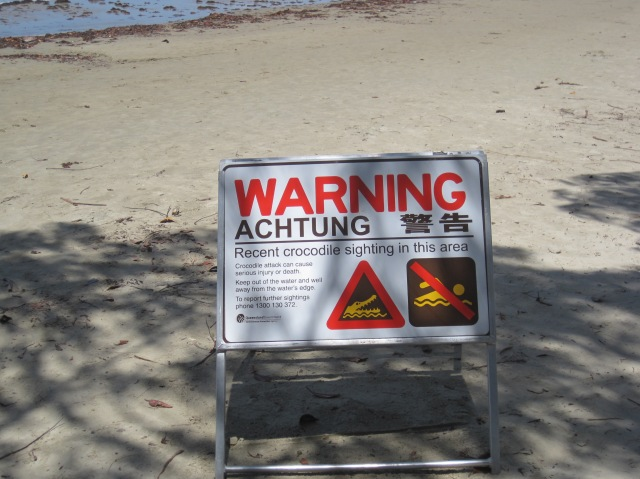 At 4 mile beach, Port Douglas