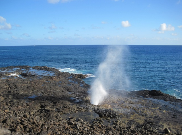 Spouting Horn blowhole, Kauai