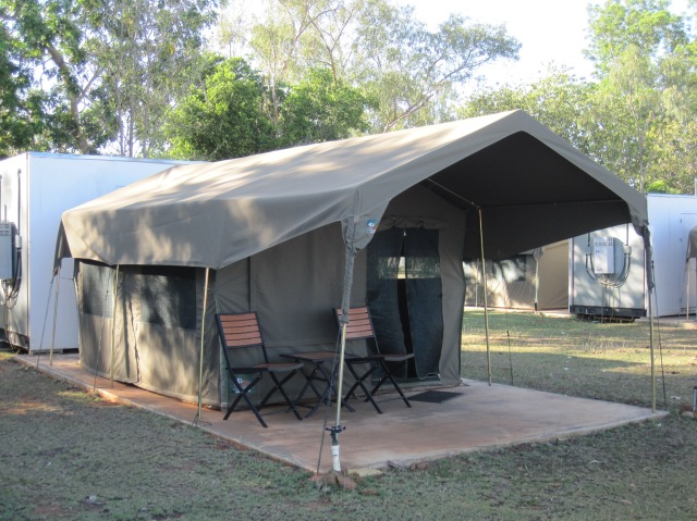 Our tent at Mt Hart
