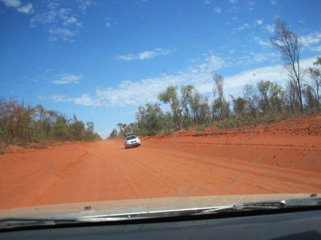 Concave road to Cape Leveque