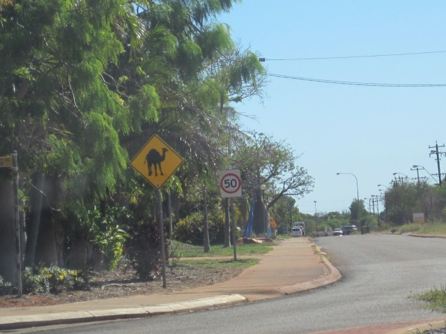 Broome road sign