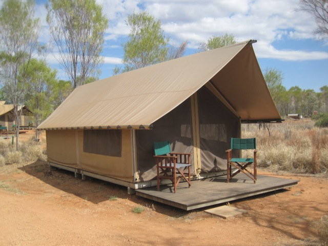 Our tent at the Bungle Bungle Wilderness Lodge