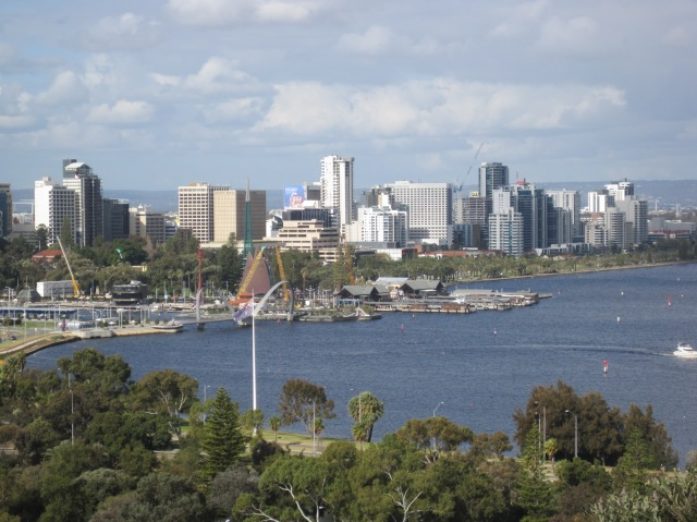 View to centre from Kings Park, Perth