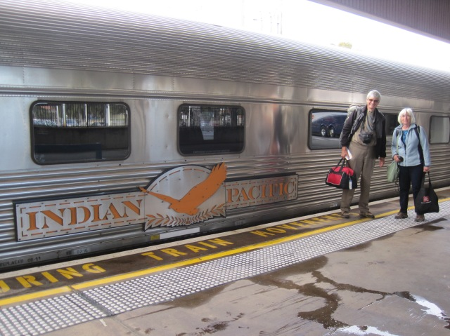 Boarding the Indian Pacific, Perth