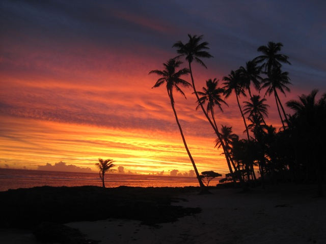 Sunset at Sa'Moana, Samoa
