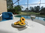 Papaya and pool, Florida Breeze Villa
