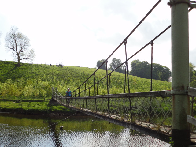 Crossing the Wharfe at Hebden