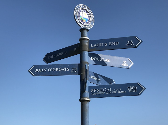 Signpost at the Mull of Galloway