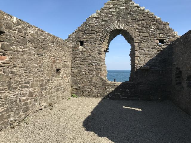 Inside St Ninian's Chapel